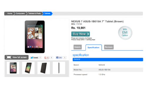 Google Nexus 7 India Launch Set for November 8: Top 3 Tablet Rivals of Android Jelly Bean Offspring
