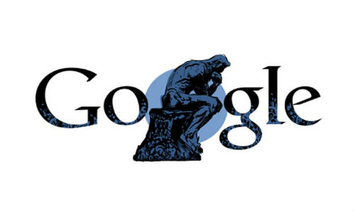 Google Pays Tribute to Auguste Rodin's 172nd Birthday with 'The Thinker' Doodle