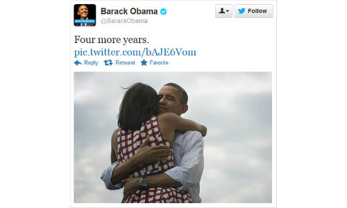 President Barack Obama's 'Four More Years' Tweet Sets Record