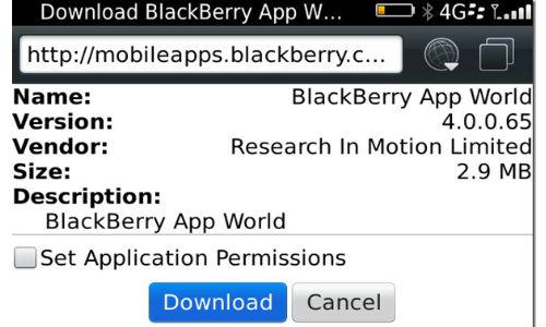 Blackberry App World Update 4.0.0.65 Released [Download Link]