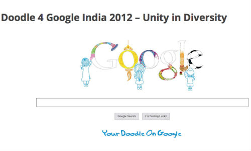 Google India Doodle 4 2012 Competition Results Announced Gizbot