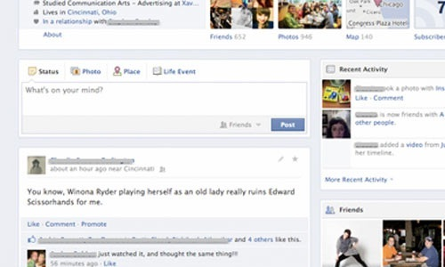 Facebook: New Single Column Post Design for Timeline Being Tested
