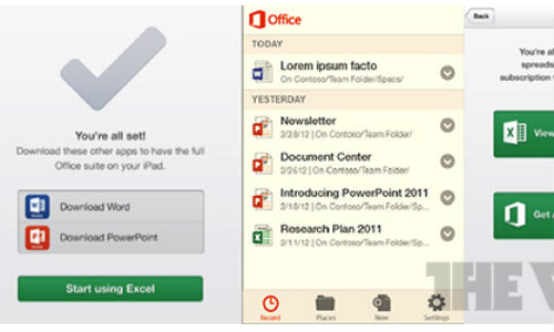 Microsoft Office for Android and iOS Coming Early 2013