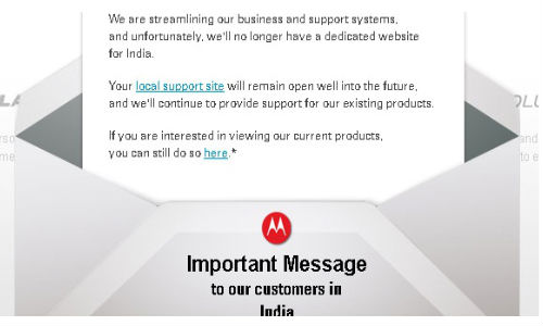 Motorola Mobility Winds Up Operations in India