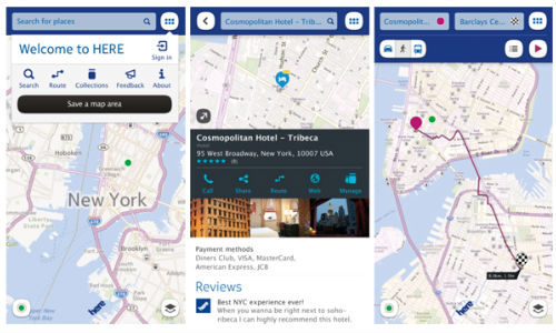 nokia here for ios devices released what are the best features of apple maps app