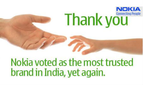 Nokia: India's 3rd Most Trusted Brand in Brand Equity Survey 2012