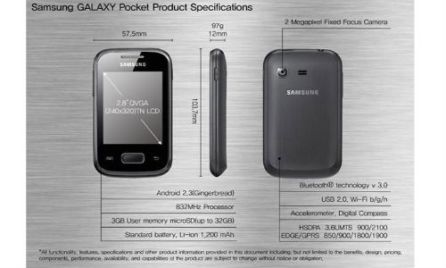 Samsung Galaxy Pocket Plus Coming Soon with Android 4.0.4 ICS at an