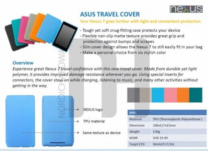 Asus Google Nexus 7 Accessories Surfaces Online: Dock, Travel and Premium Covers