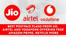 Best postpaid plans from Jio, Airtel and Vodafone offering free Amazon Prime, Netflix & more