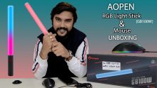 Aopen RGB Light Stick GB100W And Mouse Unboxing: Brilliant Accessories For Your PC
