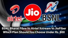 BSNL Bharat Fibre Vs Airtel Xstream Vs JioFiber Which Plan Should You Choose Under Rs. 800