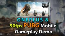 90fps PUBG Mobile Gameplay Demo On OnePlus 8