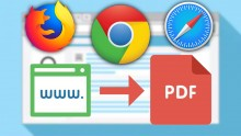 How To Save A WebPage As PDF In Chrome, Firefox, Safari