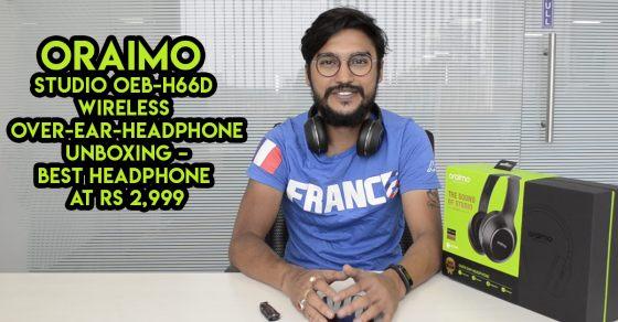 8b431e1b451 Oraimo Studio OEB-H66D Wireless Over-Ear-Headphone Unboxing - Gizbot