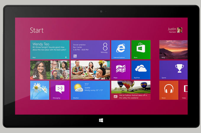 Microsoft Windows 8 RT/Pro Tablet PC Photos