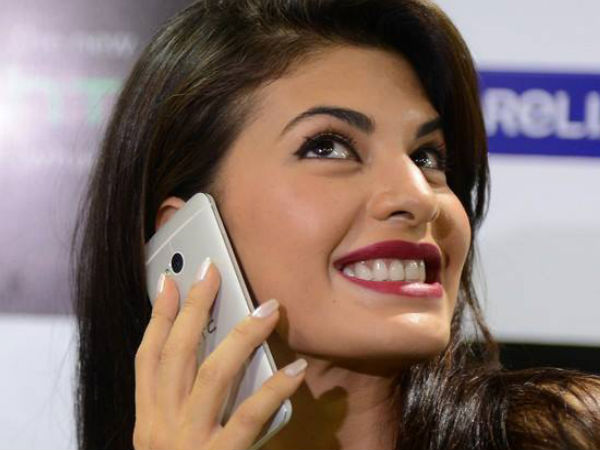 Jacqueline Fernandez with HTC One Photos