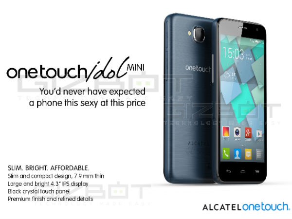 Alcatel Onetouch IDOL Mini Photos