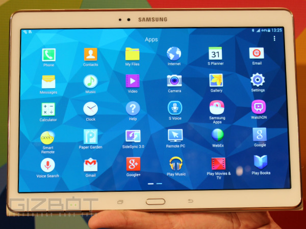 Samsung Galaxy Tab S 10.5 Hands On First Look Photos