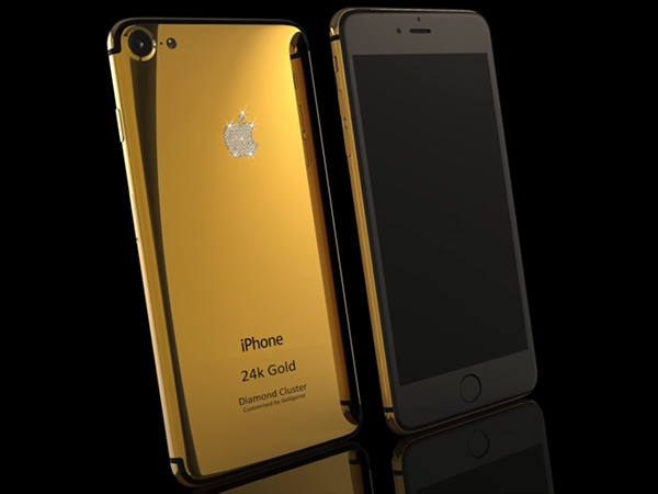 Apple iPhone 7 Gold Diamond Cluster Photos