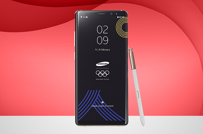 Samsung Galaxy Note 8 PyeongChang 2018 Olympic Games Limited Edition Photos
