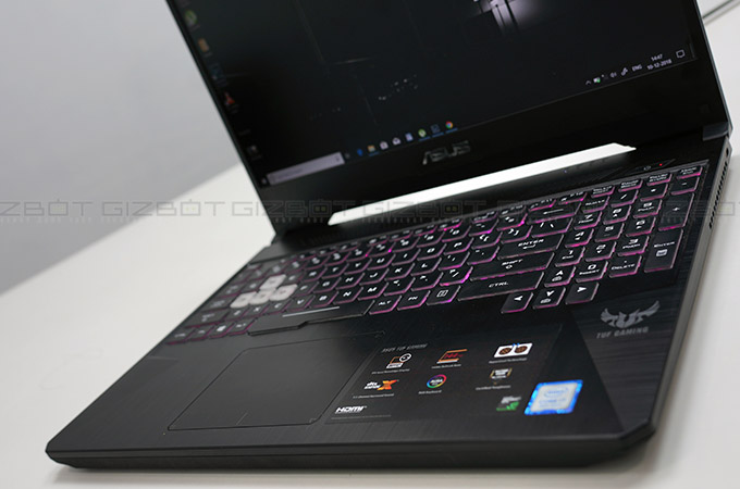 Asus TUF Gaming FX505 laptop Review Photos