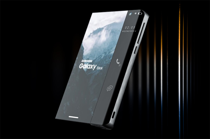 Samsung Galaxy Stick Smartphone Concept Design Photos