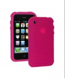 Amzer Wave Silicone Skin Jelly Case for iPhone 3G/3GS (Pink)