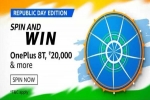 Amazon Republic Day Edition Spin And Win Contest: Win OnePlus 8T And More