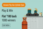 Amazon Pay Gas Cylinder Quiz Answers: Play And Get Flat Rs. 100 Cashback On LPG Cylinder Payment