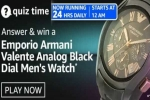 Amazon Quiz Contest Answers For April 16, 2021: Win Emporio Armani Men's Watch