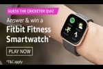 Amazon Guess The Cricketer Quiz Answers: Win Free Fitbit Smartwatch