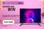 Amazon Huidi HD TV Quiz Answers: Win Huidi HD Ready LED TV For Free