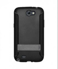 Amzer TPU Skin Case with Kickstand Black for Samsung Galaxy Note 2 GT N7100 (Black)