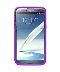 Amzer TPU Skin Case with Kickstand Purple for Samsung Galaxy Note 2 GT N7100 (Purple)