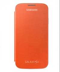 Flip Cover for Samsung Galaxy S4 (Orange)