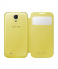 S-View Flip Cover for Samsung Galaxy S4 (Yellow)