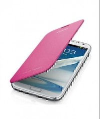 Samsung Galaxy Note 2 Flip Cover (Pink)