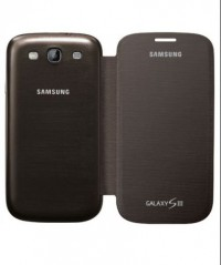 Samsung Galaxy S3 Flip Cover (Amber Brown)