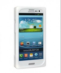 Amzer Retro Cassette Case for Samsung Galaxy S3 I9300 (White)