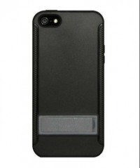 Amzer TPU Skin Case with Kickstand for iPhone 5 (Black)
