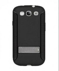 Amzer TPU Skin Case with Kickstand for Samsung Galaxy S3 I9300 (Black)