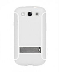 Amzer TPU Skin Case with Kickstand for Samsung Galaxy S3 I9300 (White)