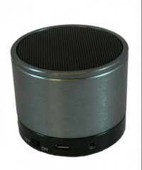 Atitude Bluetooth Speaker with Microphone Aluminium Brushed (Metallic Grey)