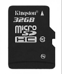 Kingston Micro SDHC Card Class 10 32 GB (Black)