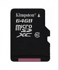 Kingston Micro SDHC Card Class 10 64 GB (Black)
