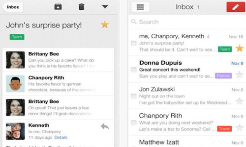Gmail for iOS Updated to Support Multiple Accounts and More