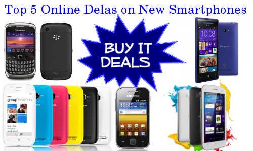 Weekend Shopping Guide: Top 5 New Smartphones Delas in Online
