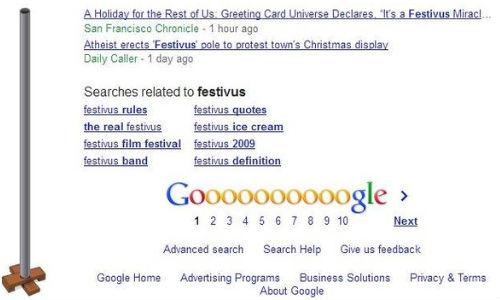 Google Festivus: Christmas Easter Egg Shows Image of Aluminum Pole