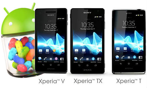 Sony Xperia T, TX and V to Receive Android 4.1 Jelly Bean Upgrade