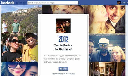 Facebook Provides Personal Year in Review Timeline for Users